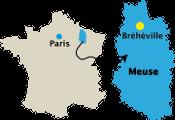 Emplacement de Bréhéville en Meuse